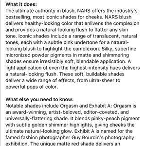 NARS Makeup - 🚩Memorial Day Sale NWOT NARS Exhibit A Blush🚩